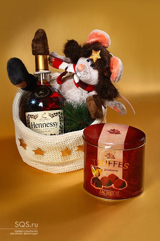 Студийная фотосъемка VIP-подарков для новогоднего каталога, Еда и напитки, Рекламная фотосъемка, Фотостудия SQS, Екатеринбург.